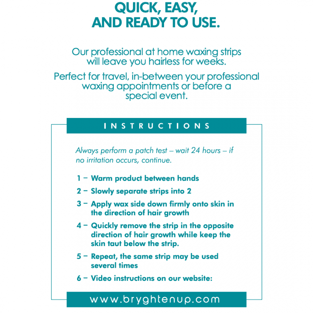 Bryght At Home Waxing Strips Bikini Underarms Instructions
